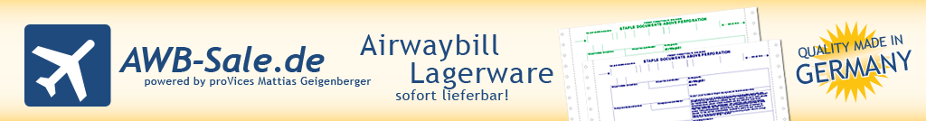 Airway Bill Lagerware sofort lieferbar